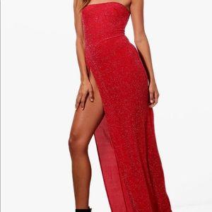 BooHoo Sexy Slit Maxi Dress ❤️